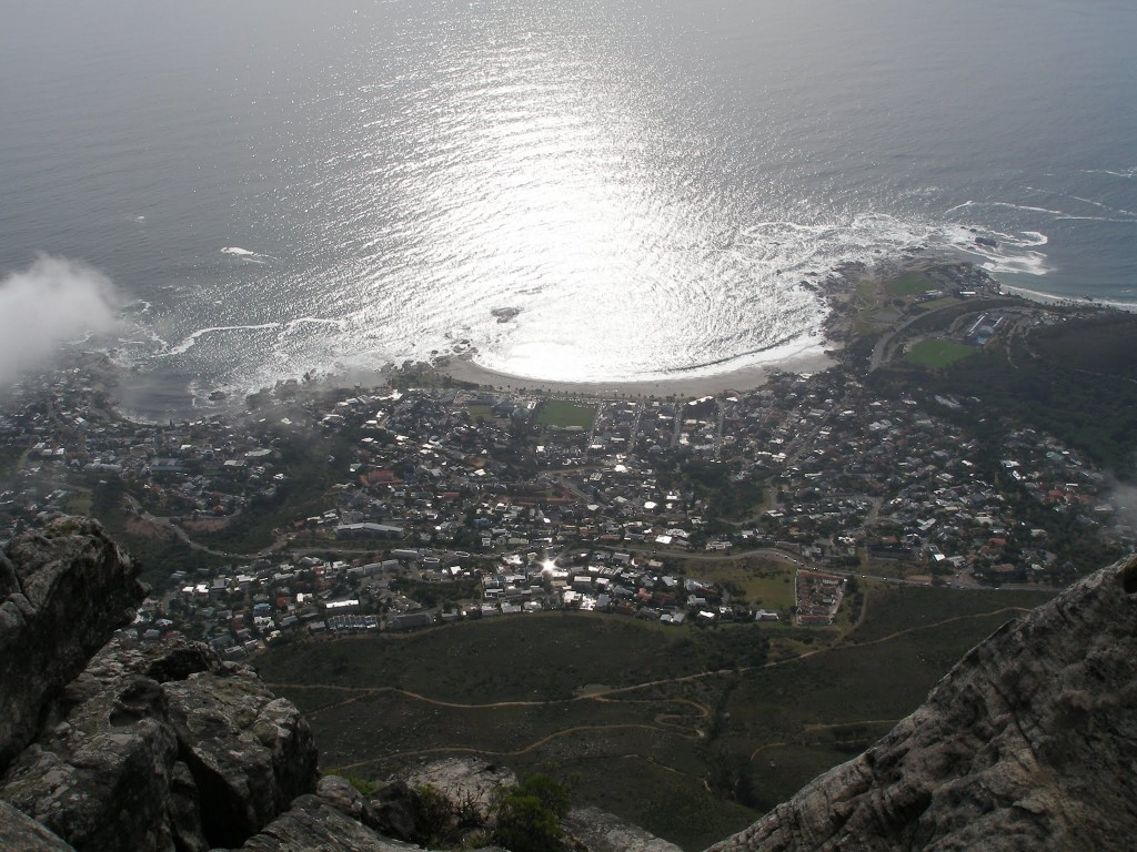 A view from the top of Table Mountain