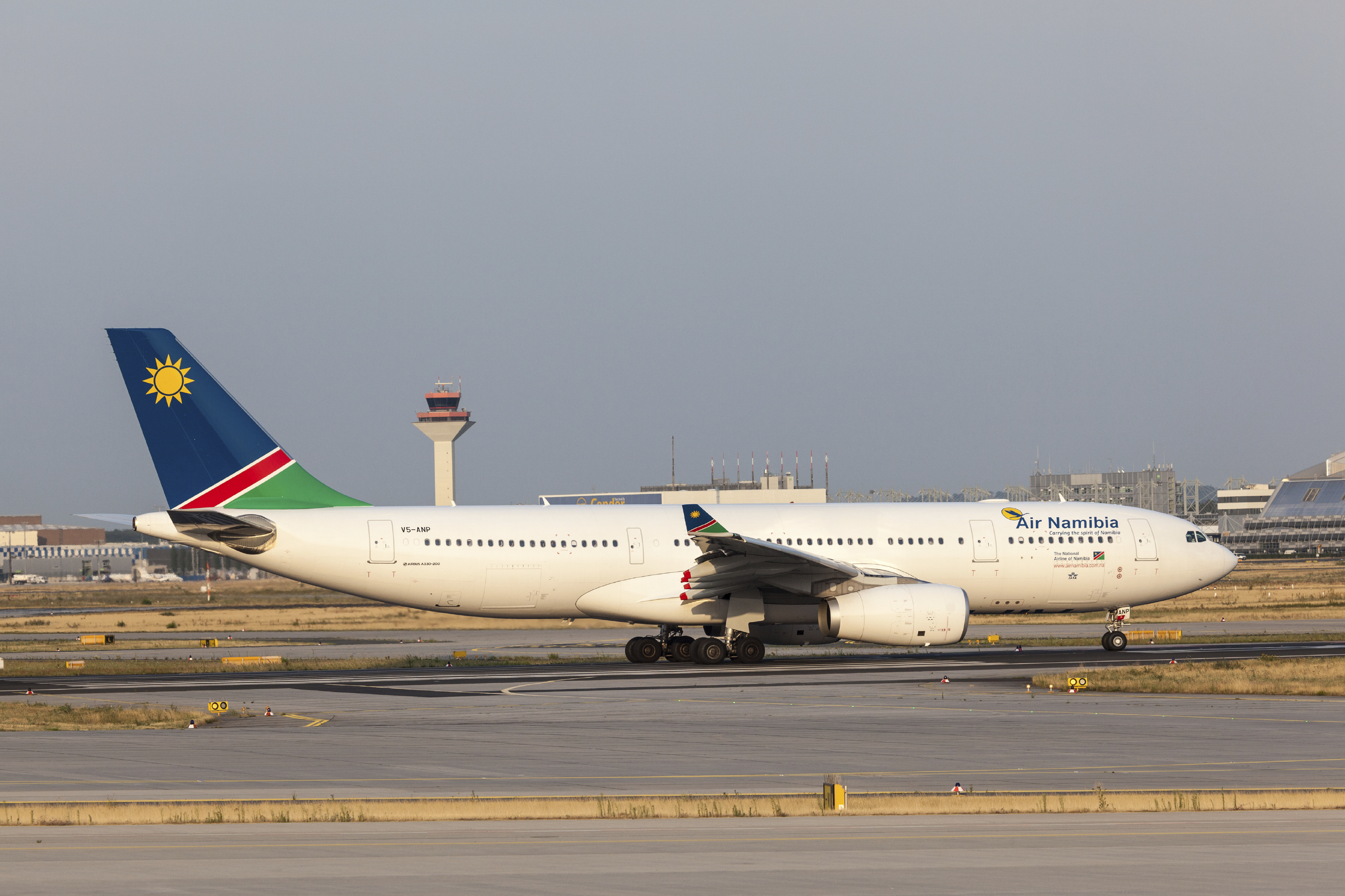 Air Namibia Airbus A330-200 at the Frankfut Airport