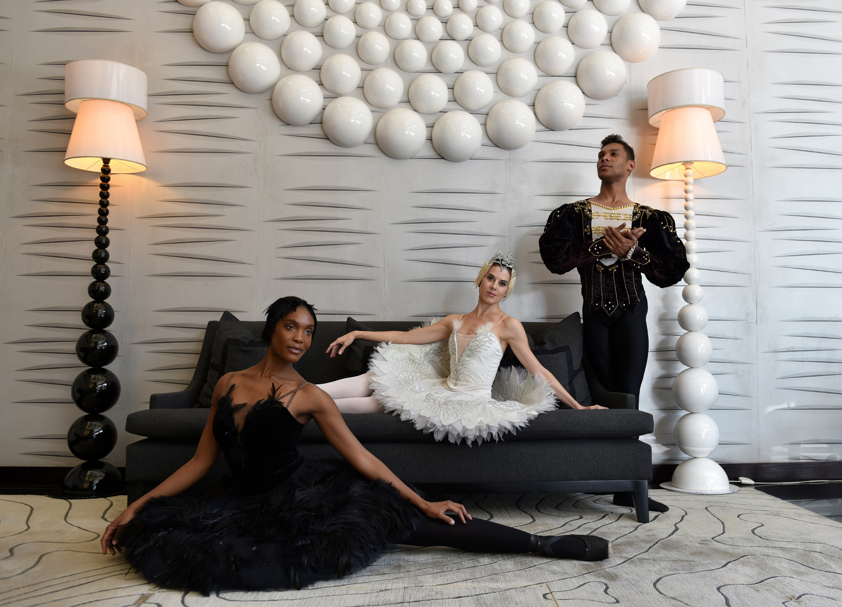 Burnise Silvius, Kitty Phetla and Jonathan Rodrigues pose for a picture at the 5-star DaVinci Hotel in Sandton, 4 March 2015. Joburg Ballet's production of Swan Lake runs from April 17 to May 3 on the Mandela stage at the Joburg Theatre. Tickets are on sale now, only at www.joburgtheatre.com. Picture: Tracy Lee Stark