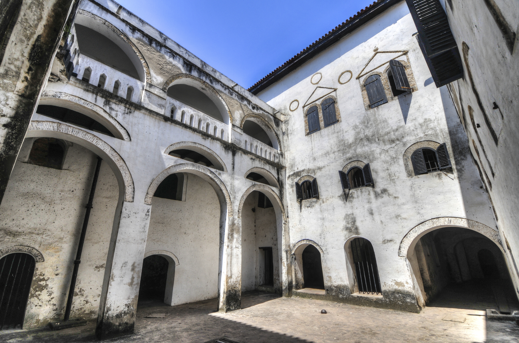 What Remains of Elmina Castle in Ghana.